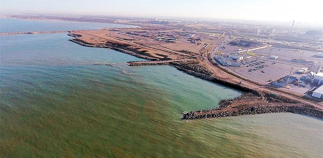 Aerial view in December 2016