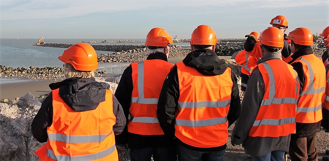 Première visite du chantier Calais Port 2015