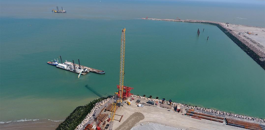P10 ferry berth works on the Eastern inner embankment